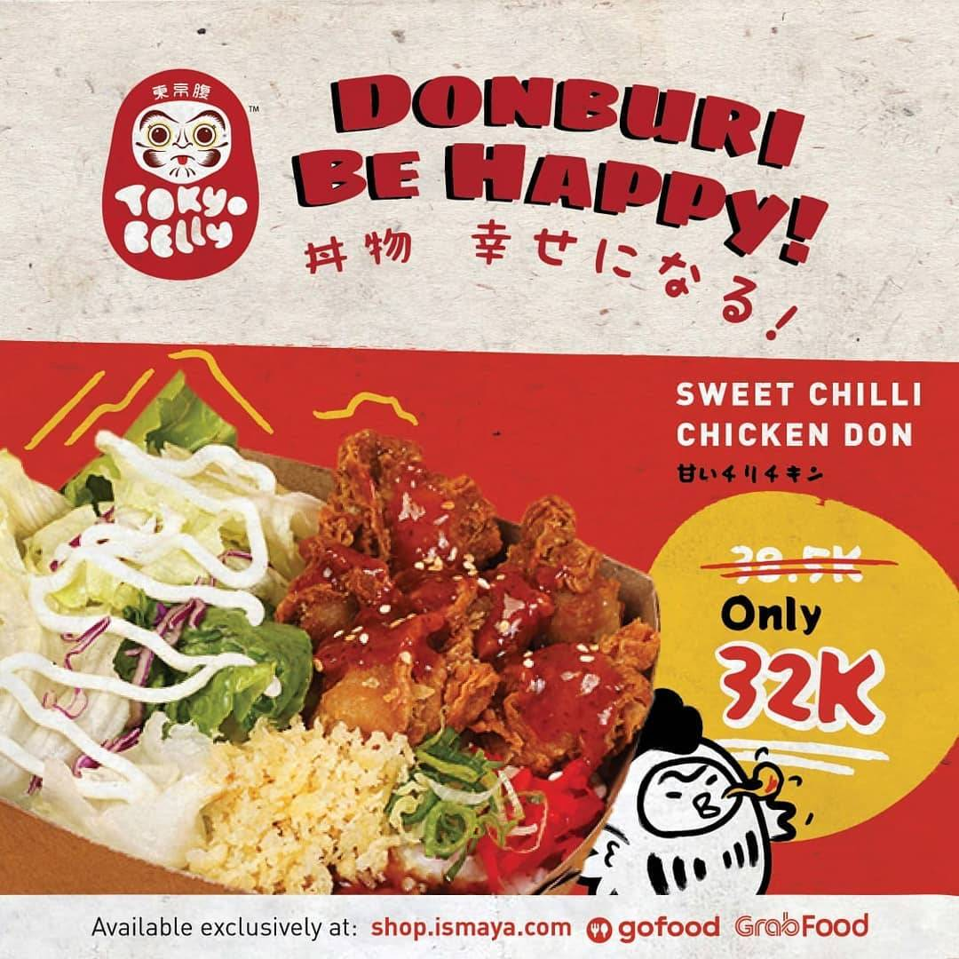 Diskon Tokyo Belly Promo Sweet Chilli Chicken Don Only For Rp. 32.000