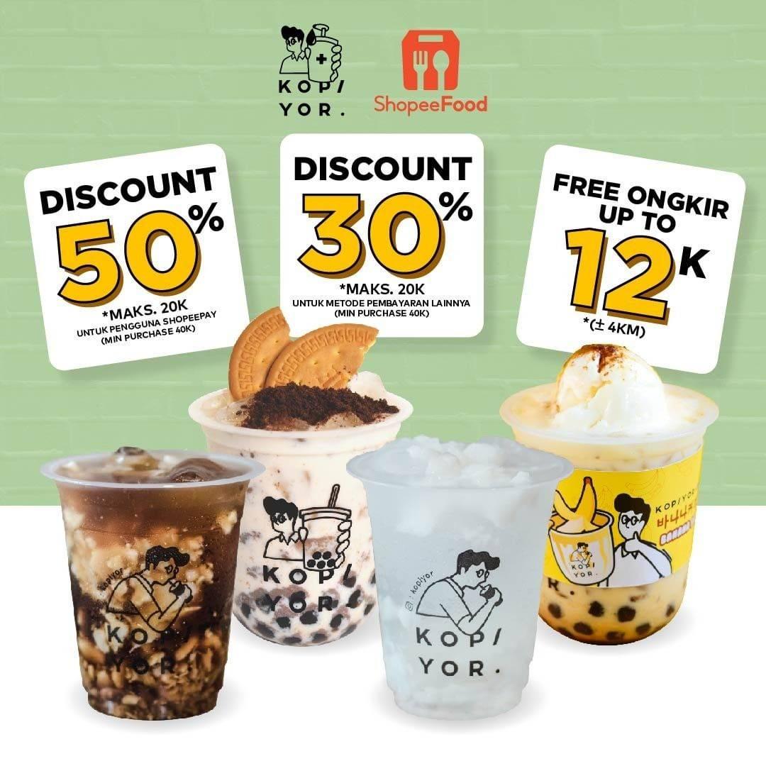 Diskon Kopi Yor Discount Up To 50% Off Dengan ShopeeFood
