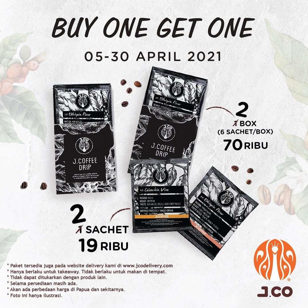 Diskon JCO Buy 1 Get 1 Free JCoffee Drip