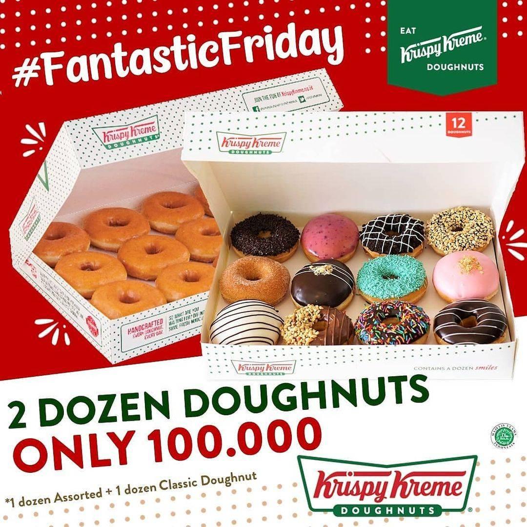 Diskon Krispy Kreme 2 Dozen Doughnuts Only For Rp. 100.000