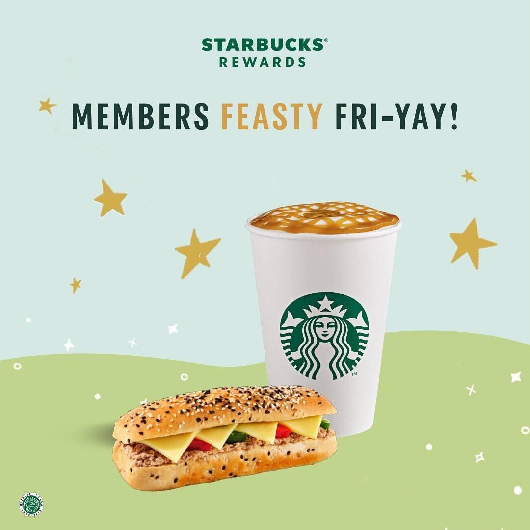 Diskon Starbucks Promo Members Feasty Friyay Bonus 20 Stars