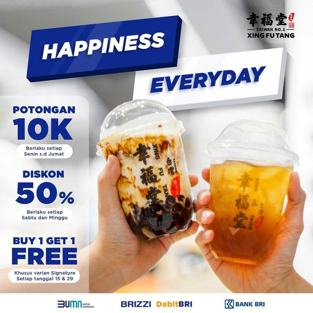 Diskon Xing Fu Tang Promo Happiness Everyday With BRI Debit Card/Brizzi