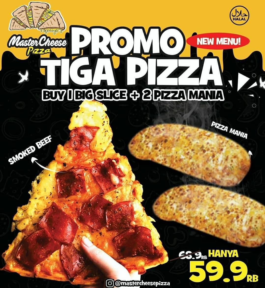 Promo diskon Mastercheese Pizza Promo Masters Paket Mulai Dari Rp. 32.900