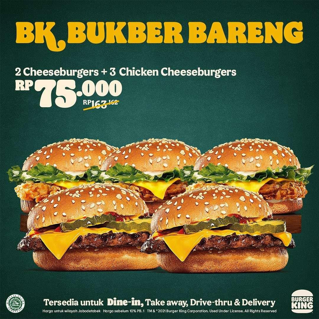Promo diskon Burger King Promo BK Bukber Bareng Harga Mulai Dari Rp. 60.000