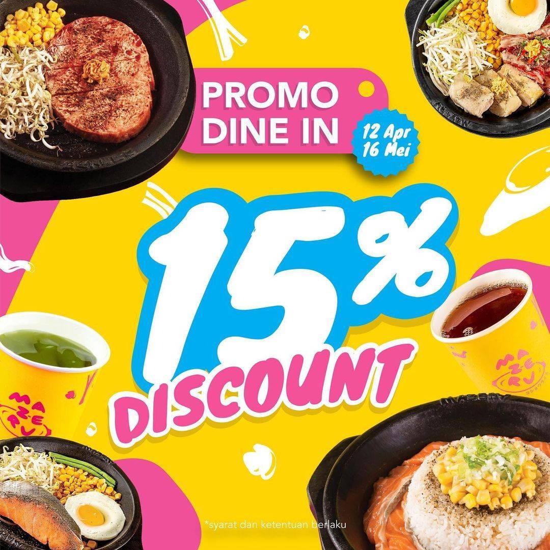 Diskon Mazeru Discount 15% Off