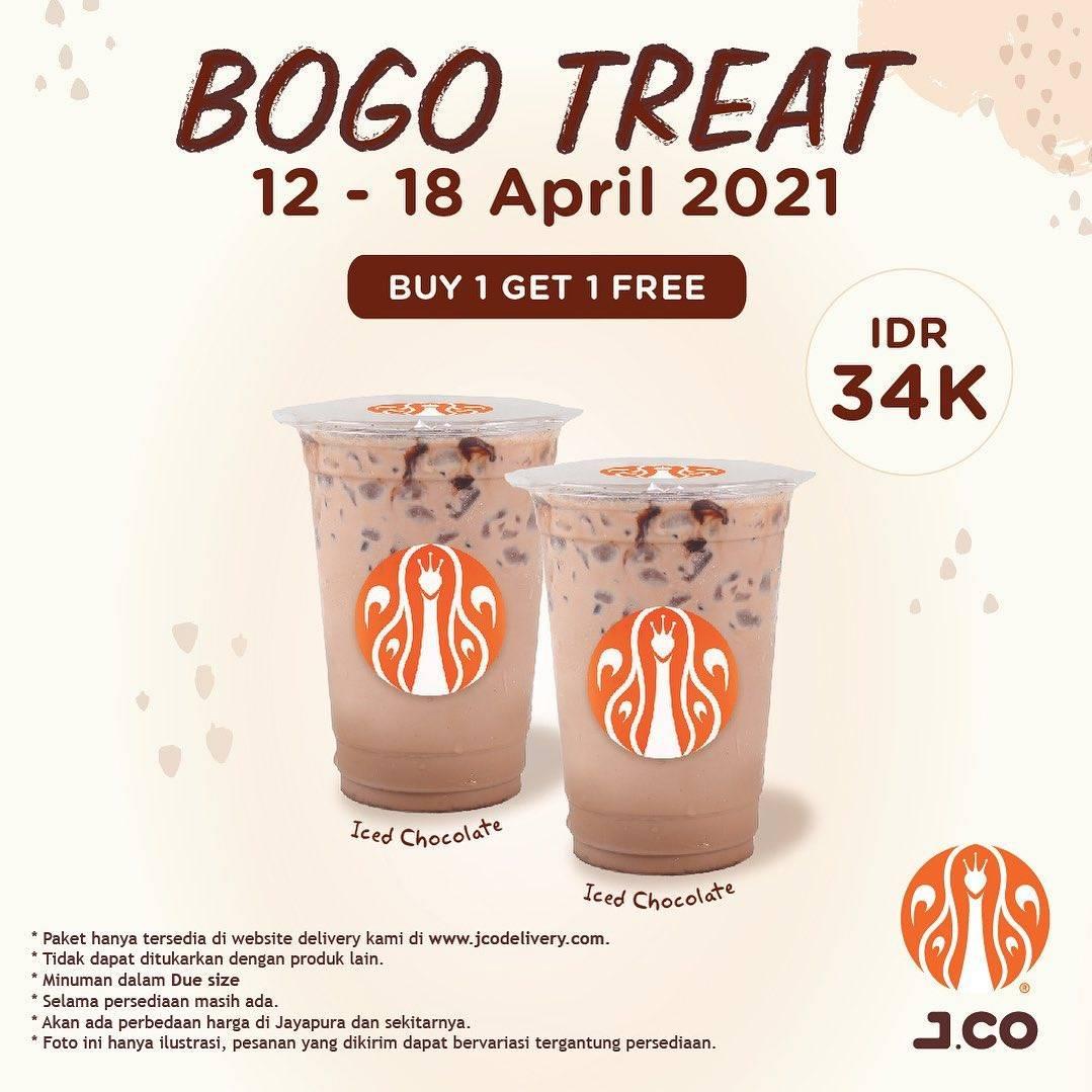 Diskon JCO Buy 1 Get 1 Free Beverages