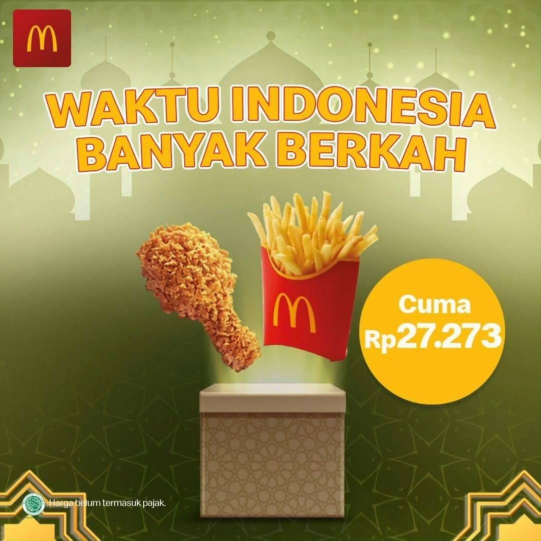 Diskon McDonalds Promo Waktu Indonesia Banyak Berkah Cuma Rp. 22.273