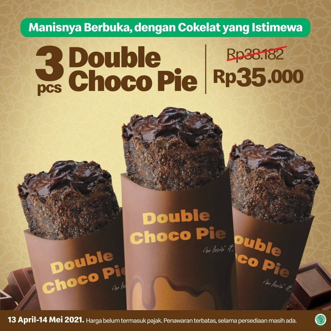 Diskon McDonalds Promo 3 Pcs Double Choco Pie Hanya Rp. 35.000