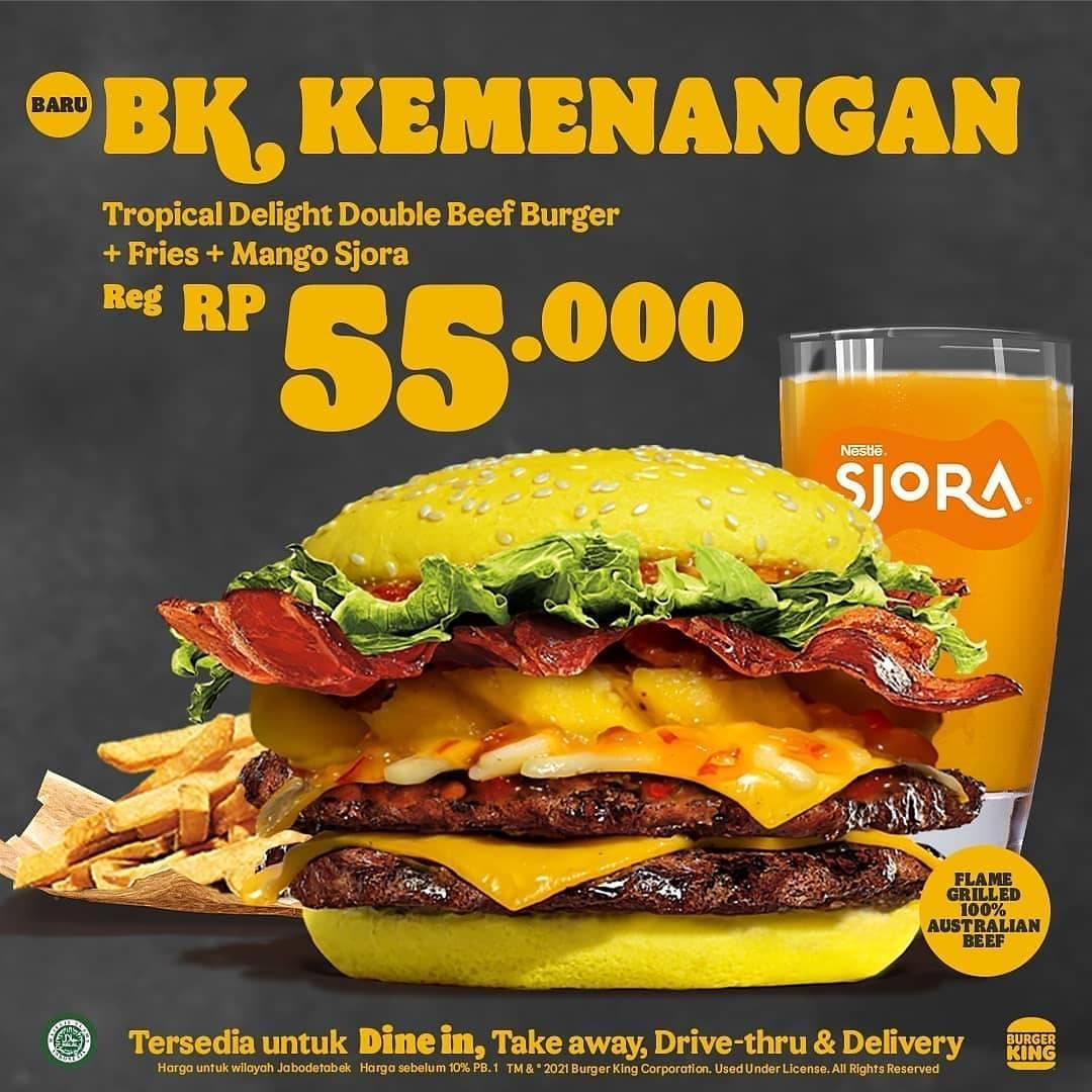 Promo diskon Burger King Promo BK Kemenangan Hanya Rp. 45.000