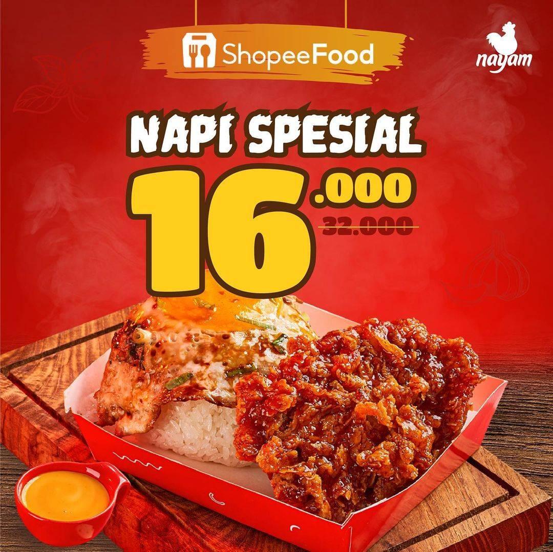 Diskon Nayam Promo Napi Spesial Diskon 50% Hanya Di ShopeeFood
