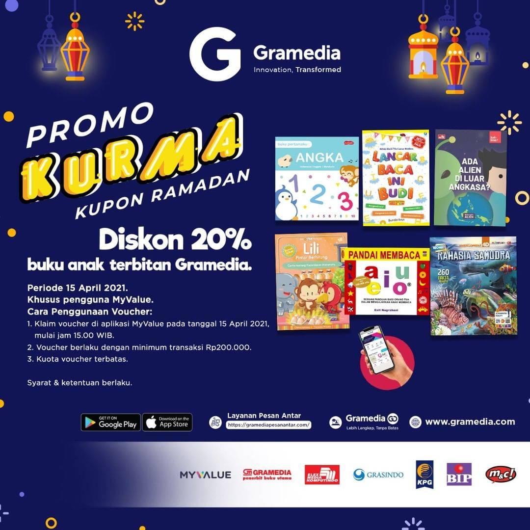 Diskon Gramedia Promo Kupon Ramadan Voucher Diskon 20%
