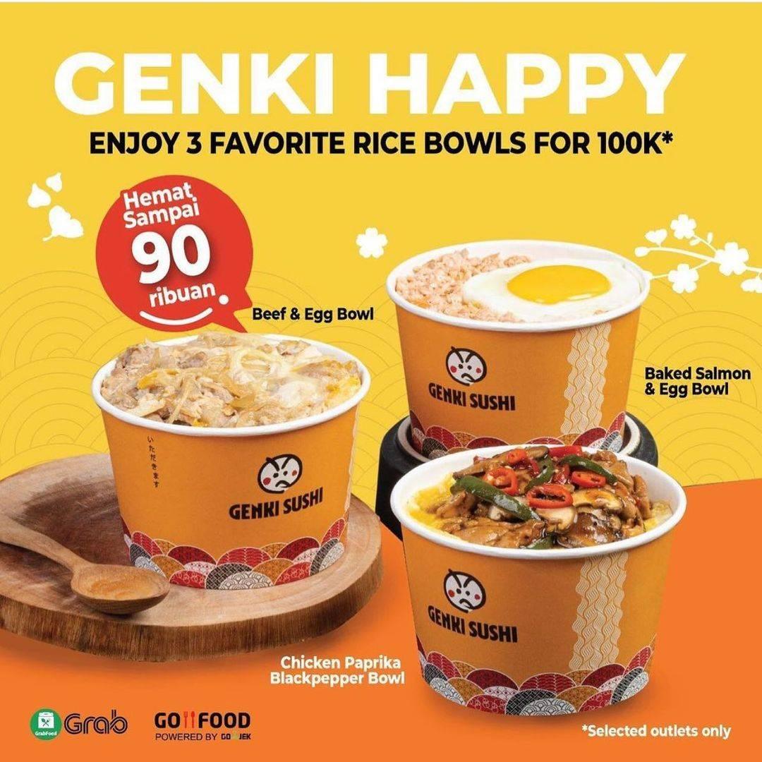 Diskon Genki Sushi Promo Genki Happy Promo Hemat Sampai 90Ribuan