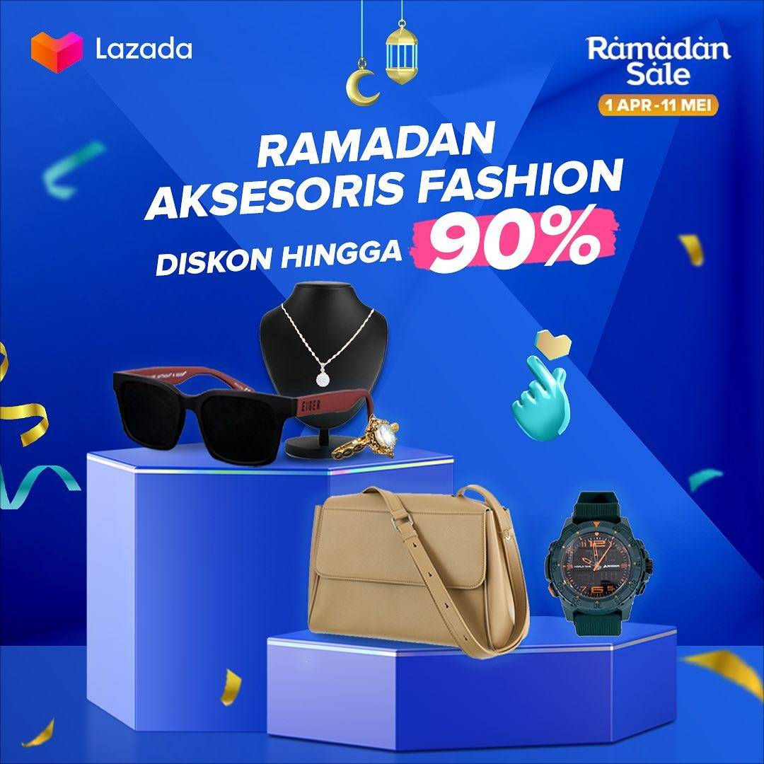 Diskon Lazada Ramadhan Aksesoris Fashion Diskon Hingga 90%