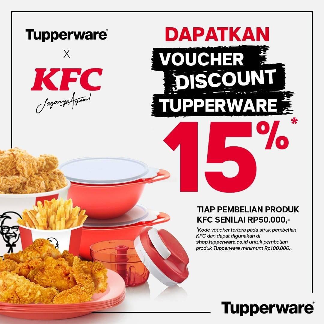 Diskon Tupperware Diskon 15% Setiap Pembelian Senilai Rp. 50.000 Di KFC