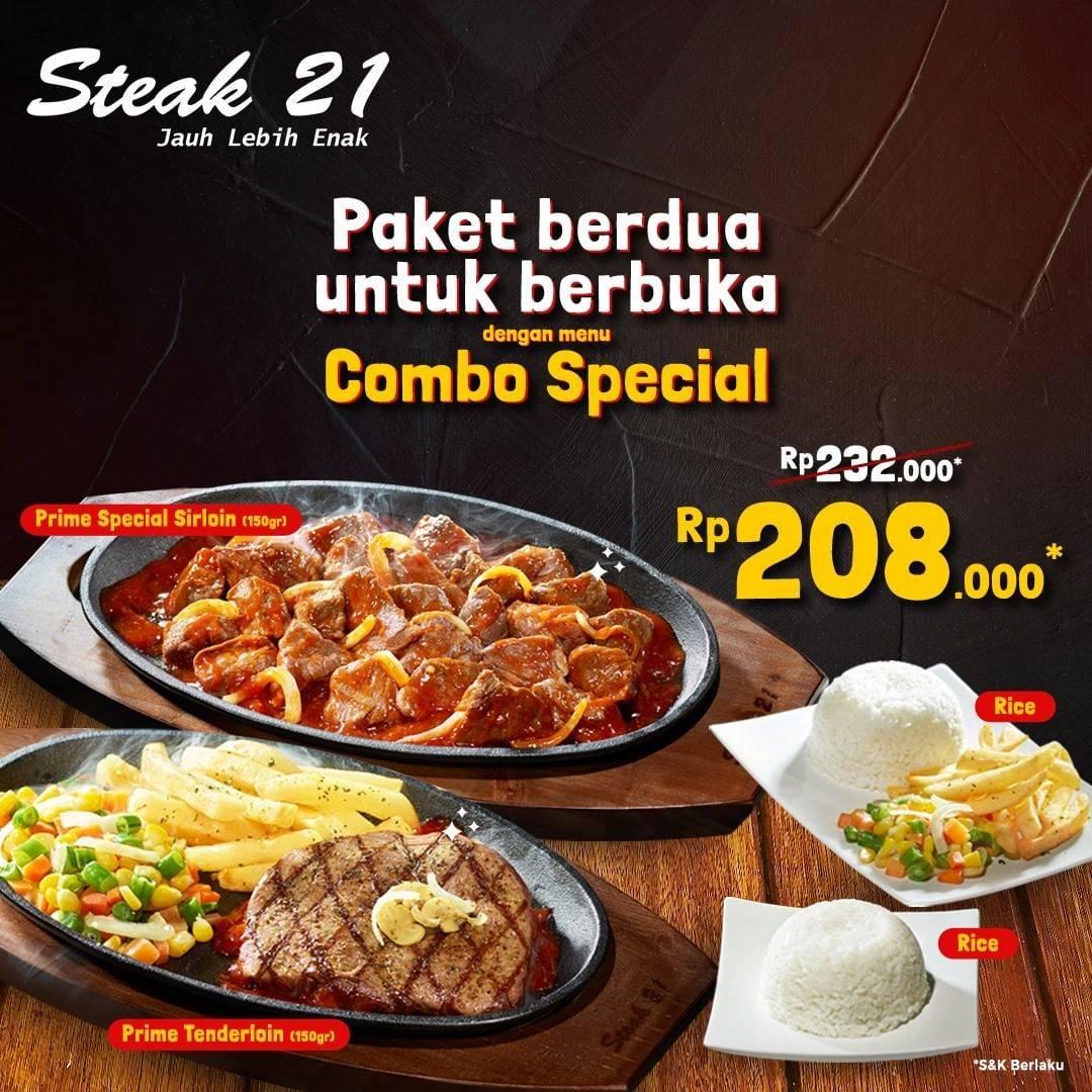 Diskon Steak 21 Promo Paket Berdua Untuk Berbuka Hanya Rp. 208.000