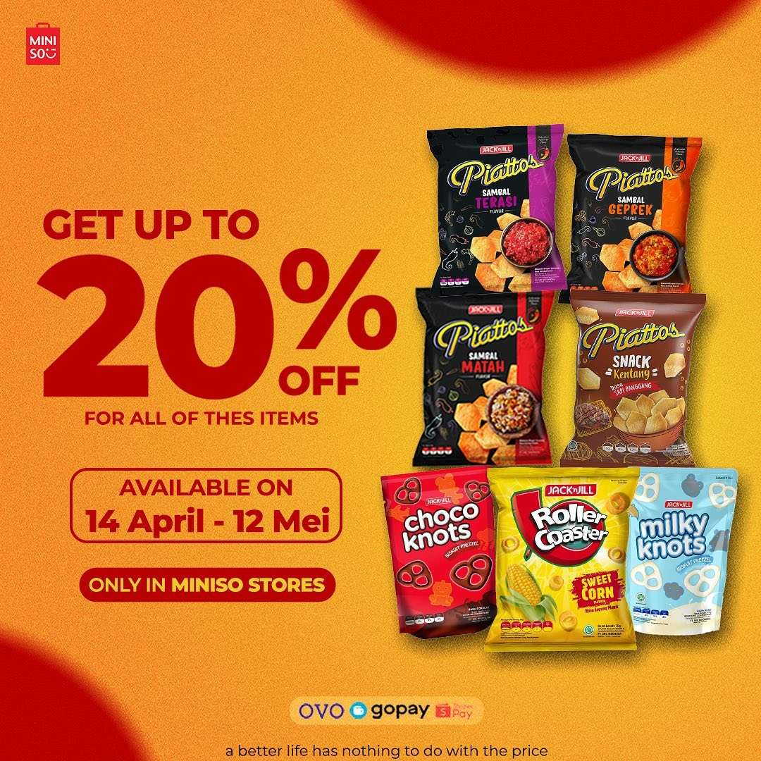 Diskon Miniso Get Discount Up To 20% Off On Snacks