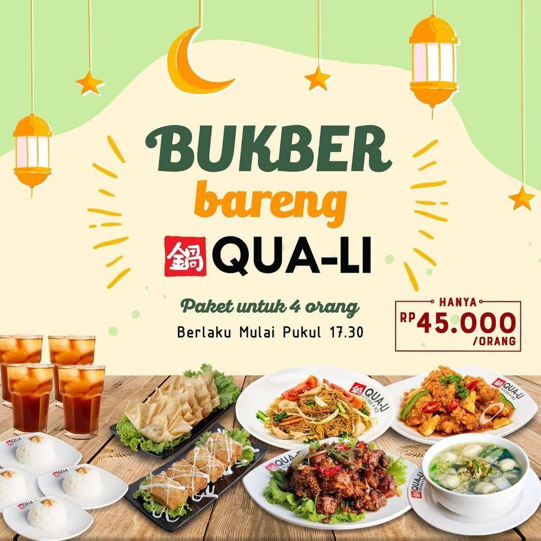 Diskon Qua Li Promo Paket Bukber Ber-Empat Hanya Rp. 45.000/Orang