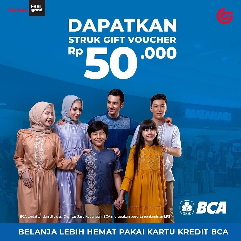 Diskon Matahari Voucher Discount Rp. 50.000 Menggunakan Kartu Kredit/Debit BCA
