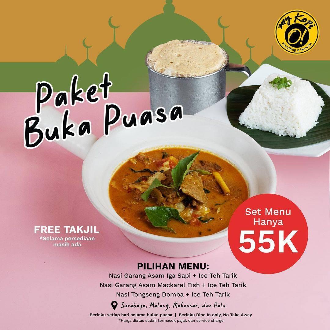 Diskon My Kopi' O Promo Paket Buka Puasa Hanya Rp. 55.000 + Free Takjil