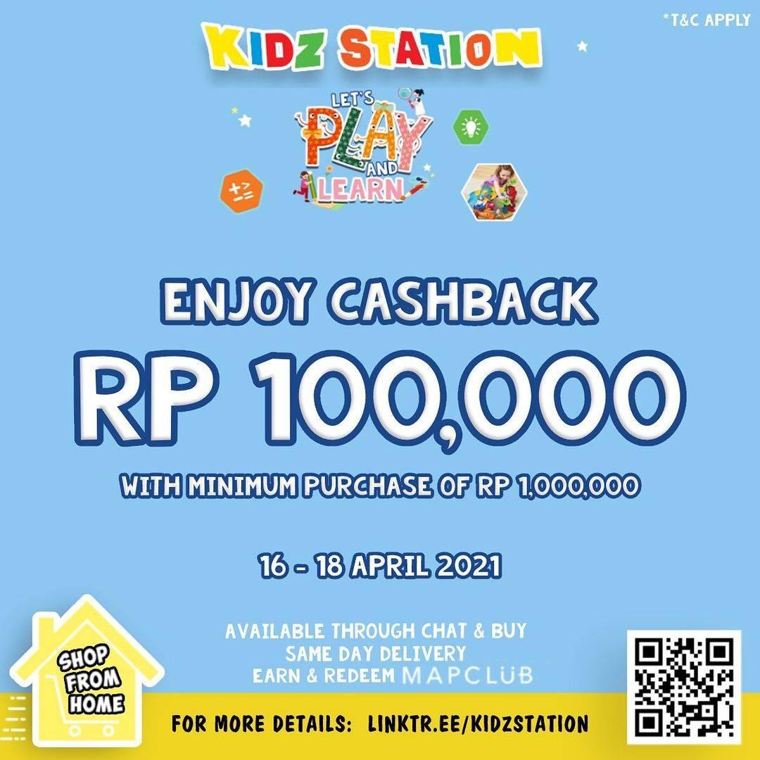 Diskon Kidz Station Cashback Rp. 100.000