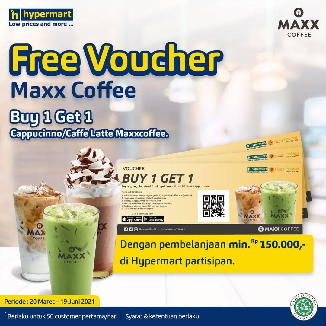 Diskon Hypermart Free Voucher Maxx Coffee Buy 1 Get 1 Free