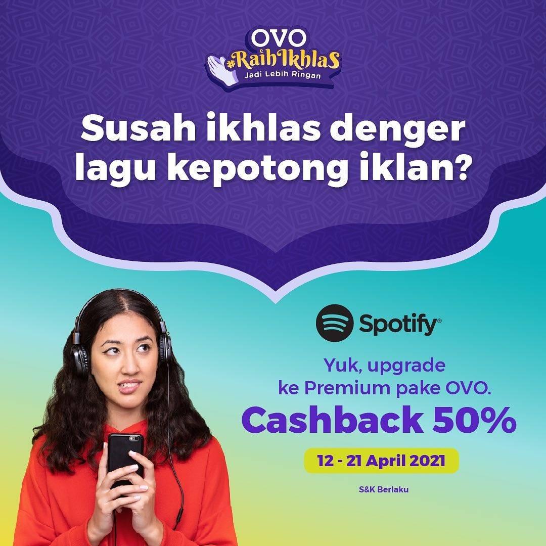 Diskon OVO Cashback 50% Untuk Upgrade Spotify Premium