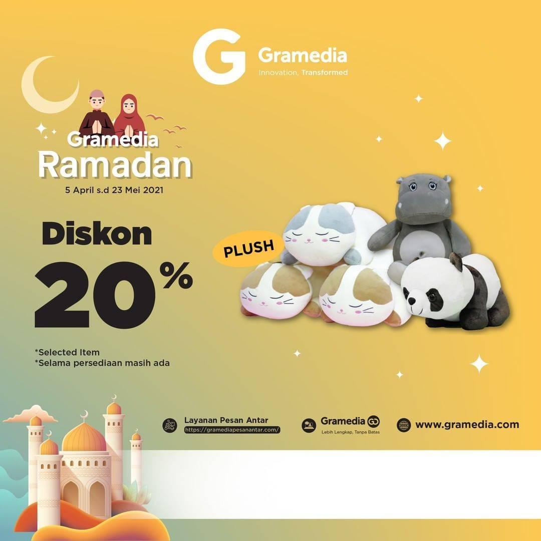 Promo diskon Gramedia Diskon 20% On Pillow