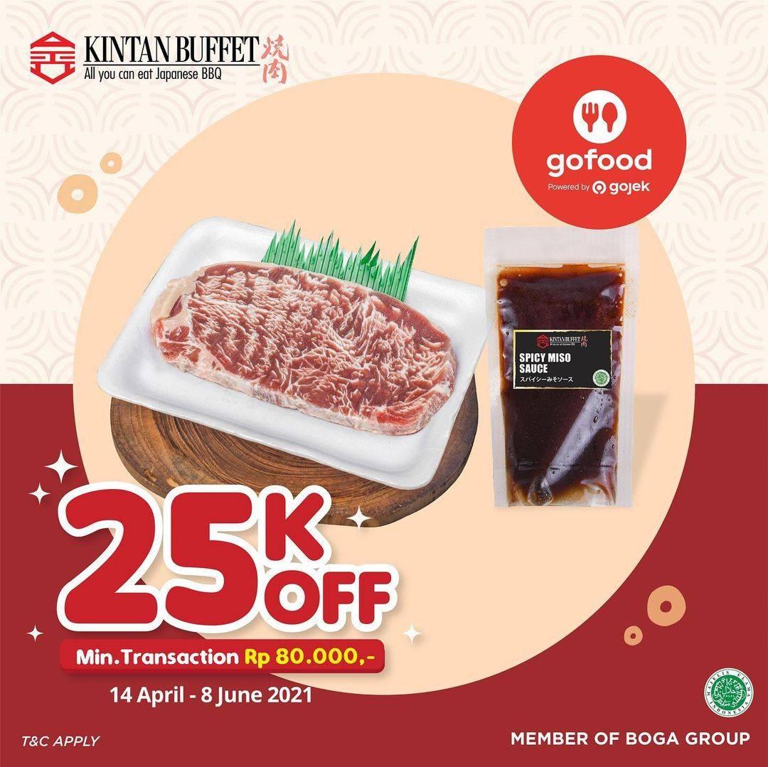 Diskon Kintan Buffet Discount Rp. 25.000 On GoFood