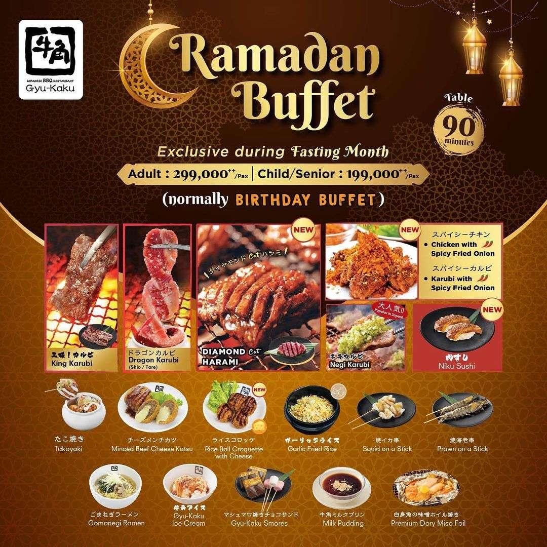 Promo diskon Gyukaku Promo Ramadan Buffet Start From Rp. 199.000