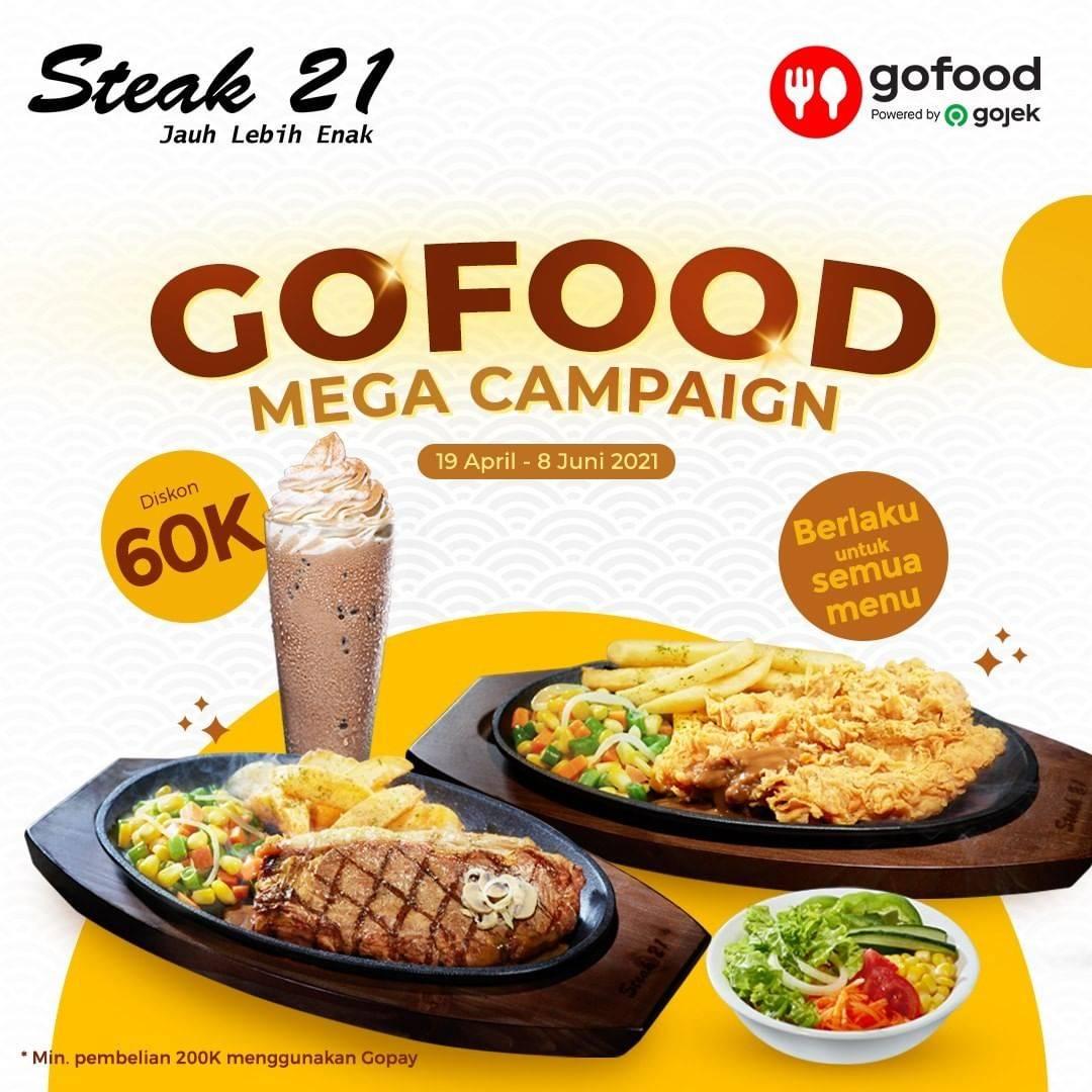 Diskon Steak 21 Diskon Rp. 60.000 Dengan GoFood