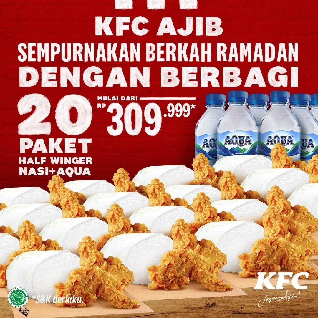 Diskon KFC Promo 20 Paket Half Winger Hanya Rp. 309.999