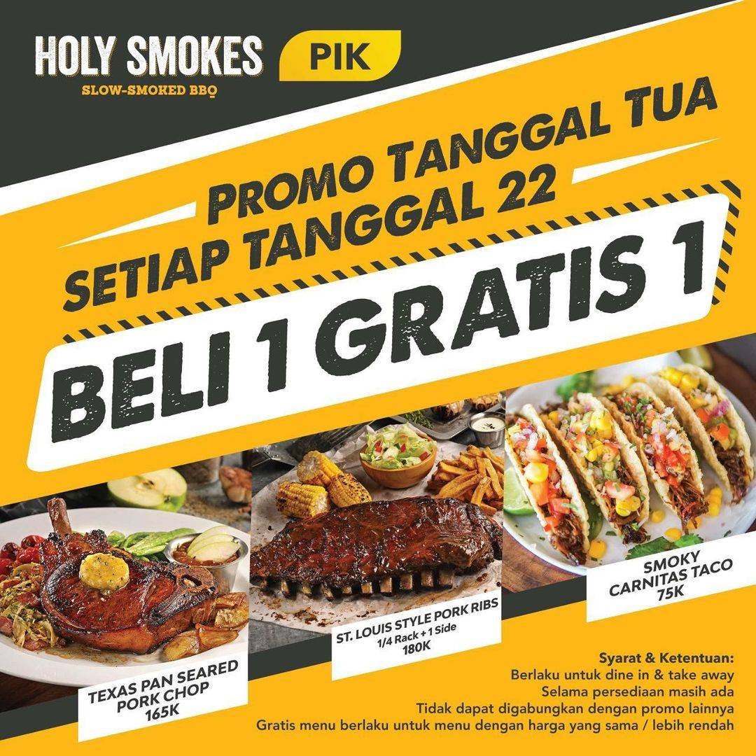 Diskon Holy Smokes Beli 1 Gratis 1