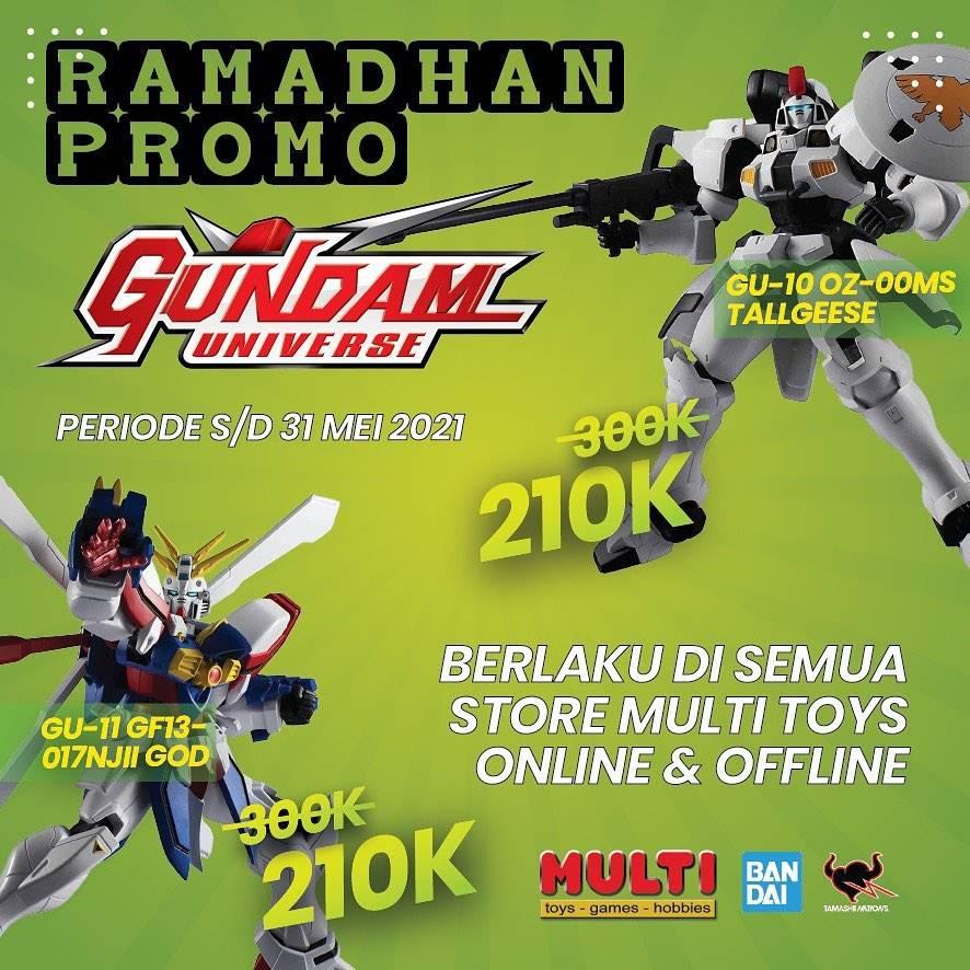 Diskon Multi Toys Ramadhan Promo Harga Spesial Gundam Hanya Rp. 210.000