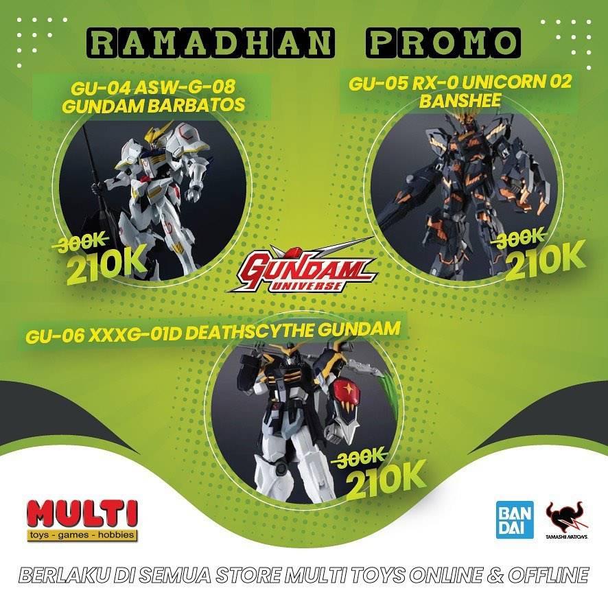 Promo diskon Multi Toys Ramadhan Promo Harga Spesial Gundam Hanya Rp. 210.000