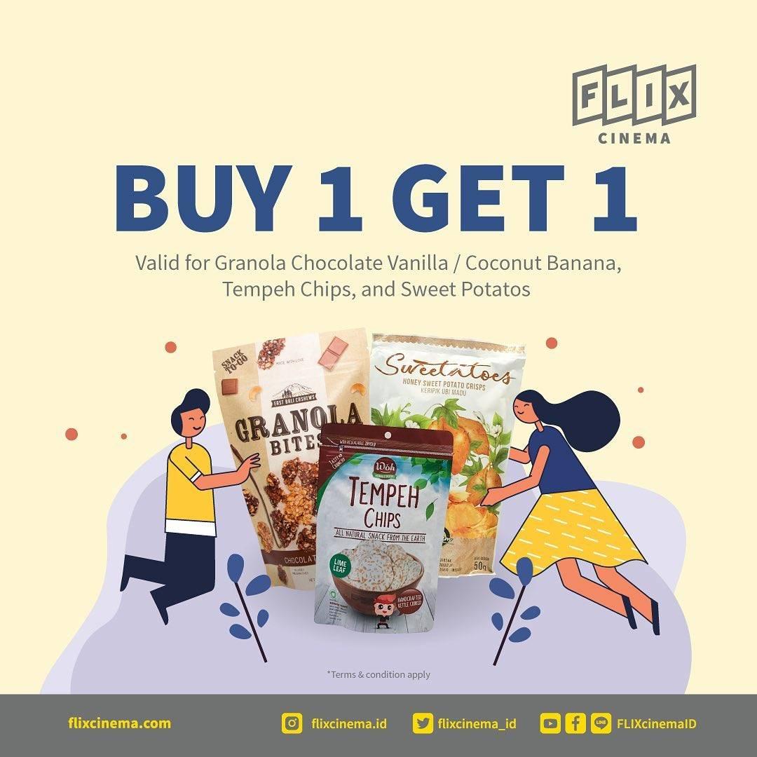 Diskon Flix Cinema Buy 1 Get 1 Free Snack