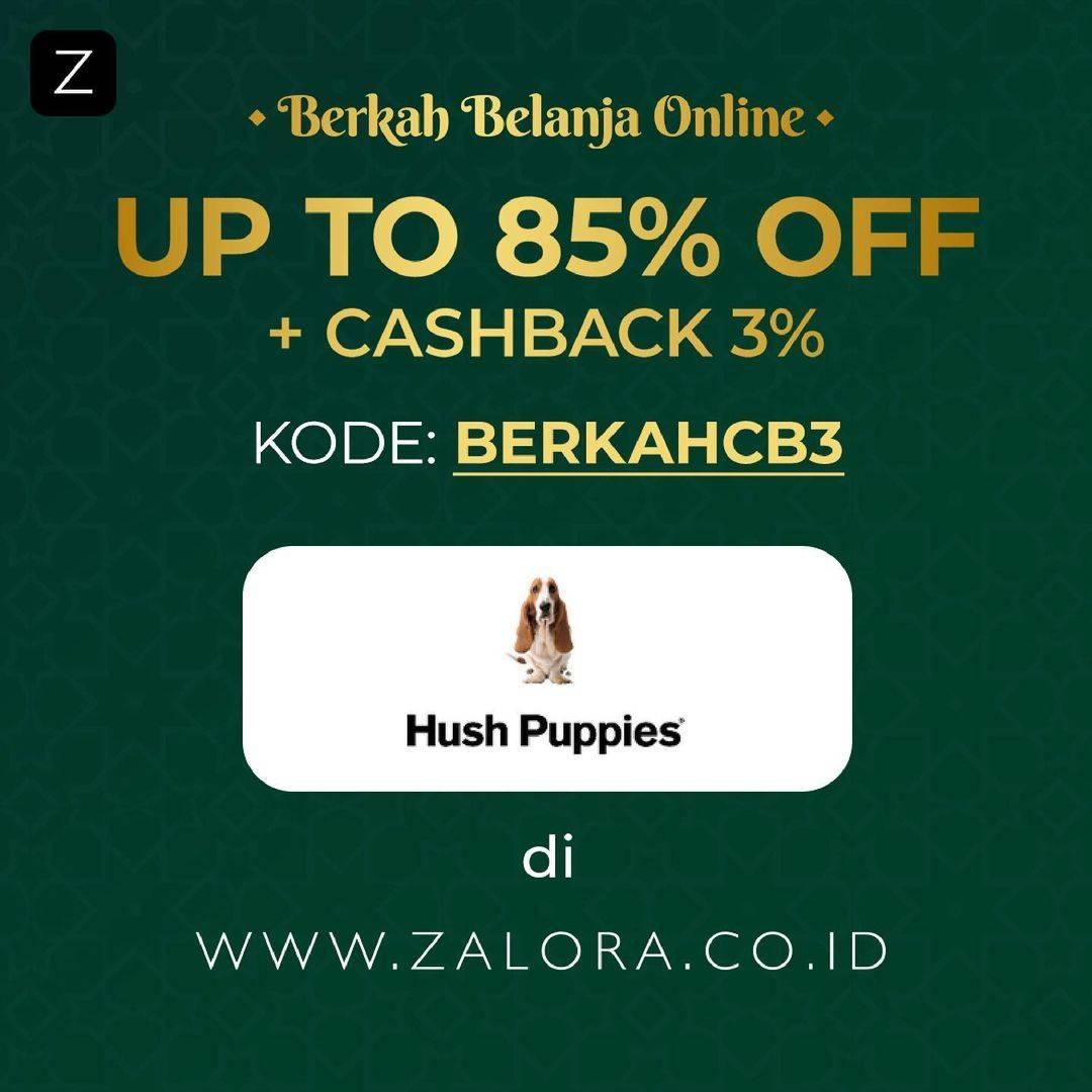 Diskon Hush Puppies Discount Up To 85% Off + Cashback 3% On Zalora