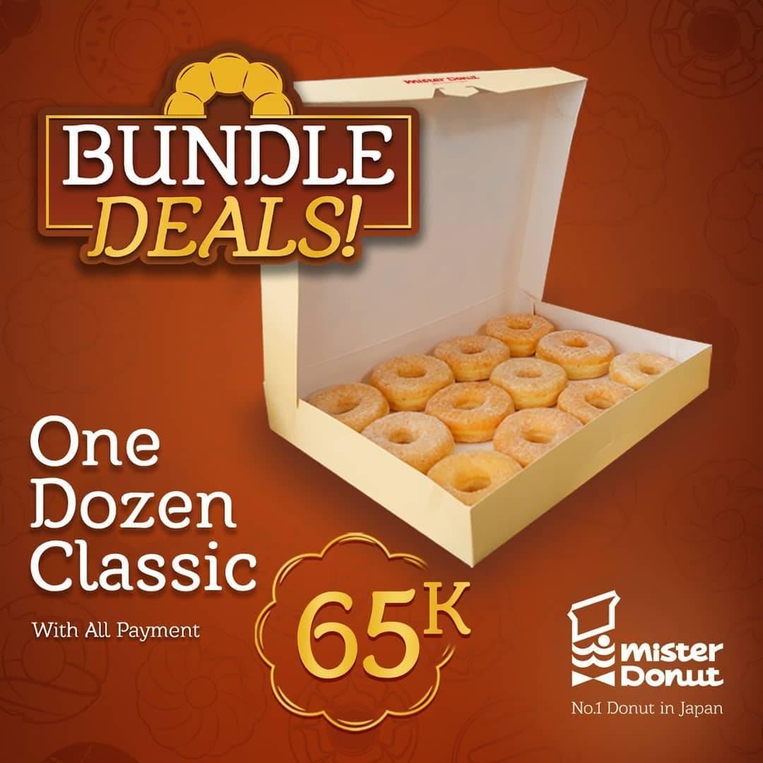 Diskon Mister Donut Promo Bundle Deals Start From Rp. 65.000