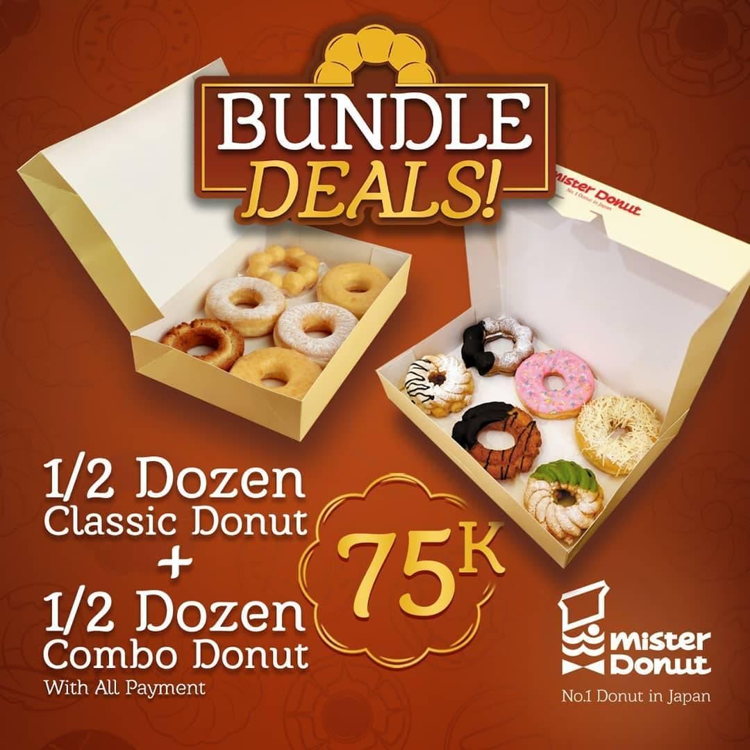 Promo diskon Mister Donut Promo Bundle Deals Start From Rp. 65.000