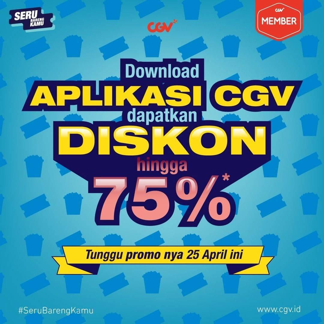 Promo diskon CGV Promo Tiket Nonton Dan Snack Mulai Rp. 5.000