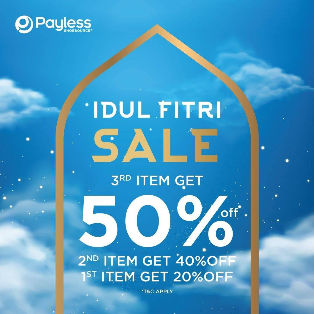 Diskon Payless Idul Fitri Sale Up To 50% Off