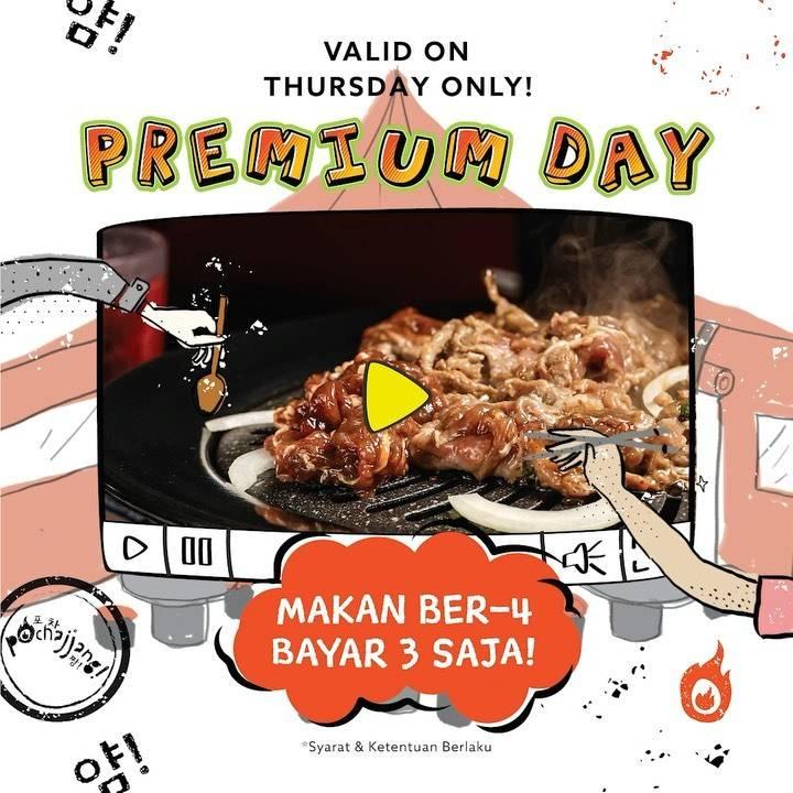 Diskon Pochajjang Promo Premium Day Paket Berempat Hanya Rp. 99.000