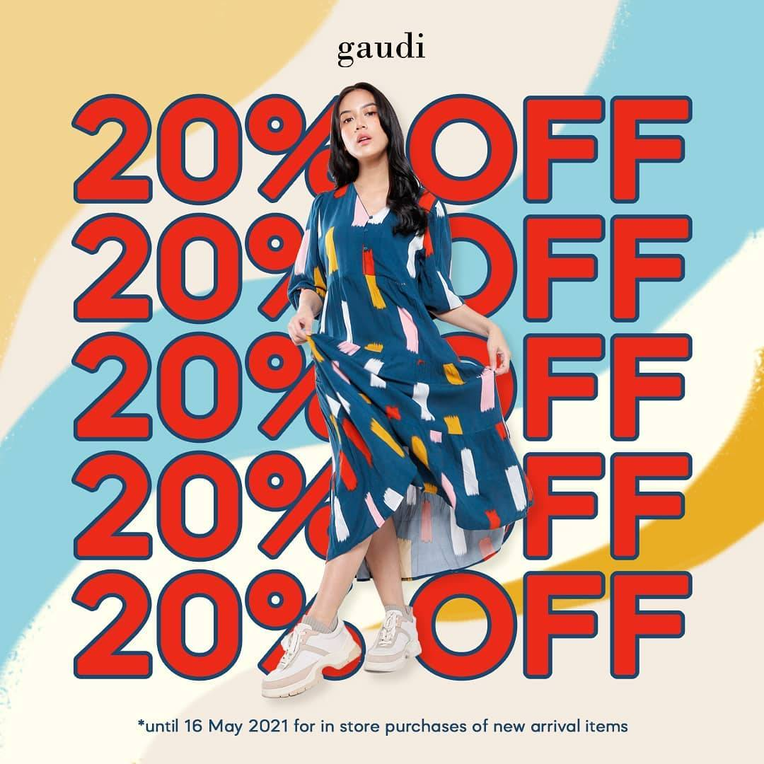 Diskon Gaudi Discount 20% Off