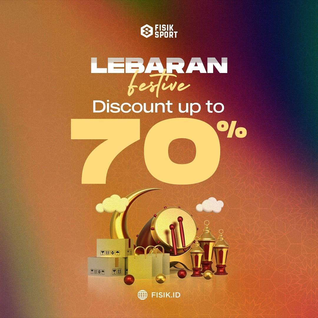 Diskon Fisik Sport Lebaran Festive Discount Up To 70% Off