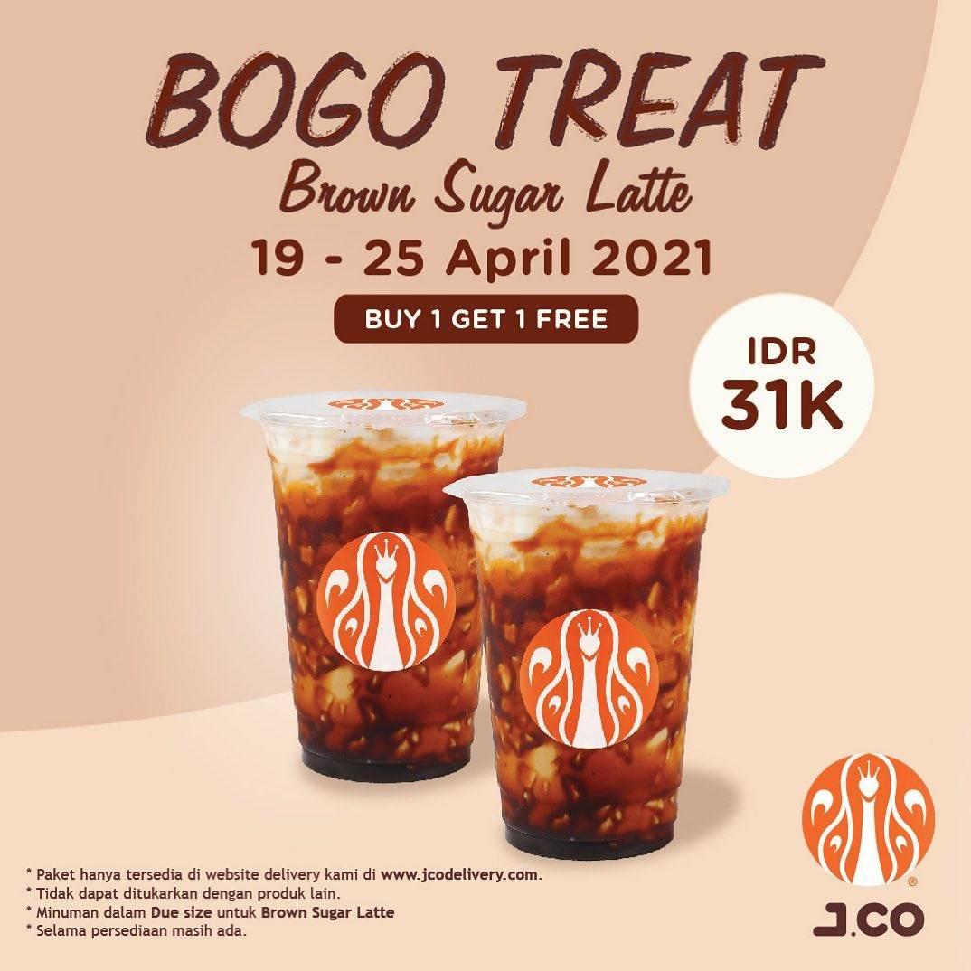 Diskon JCO Buy 1 Get 1 Free Treat Brown Sugar Latte