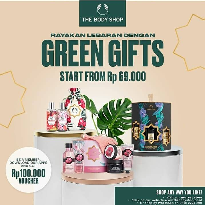 Diskon The Body Shop Promo Green Gifts Start From Rp. 69.000