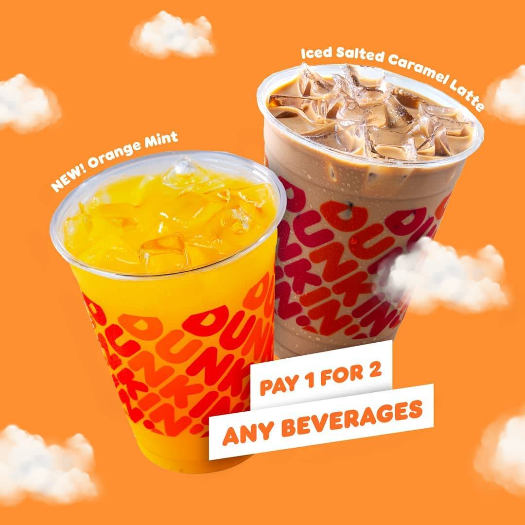 Diskon Dunkin Donuts Pay 1 For 2 Any Beverages With BCA Debit/Credit Card