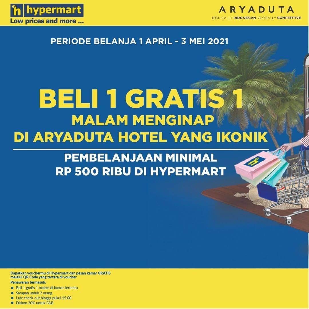 Diskon Hypermart x Aryaduta Promo Shop & Stay Beli 1 Gratis 1