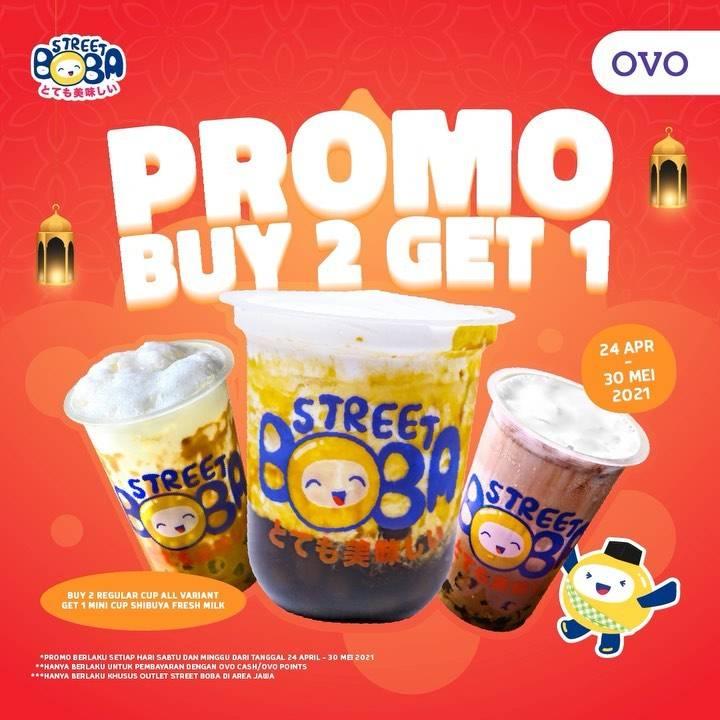Diskon Street Boba Buy 2 Get 1 Free With OVO