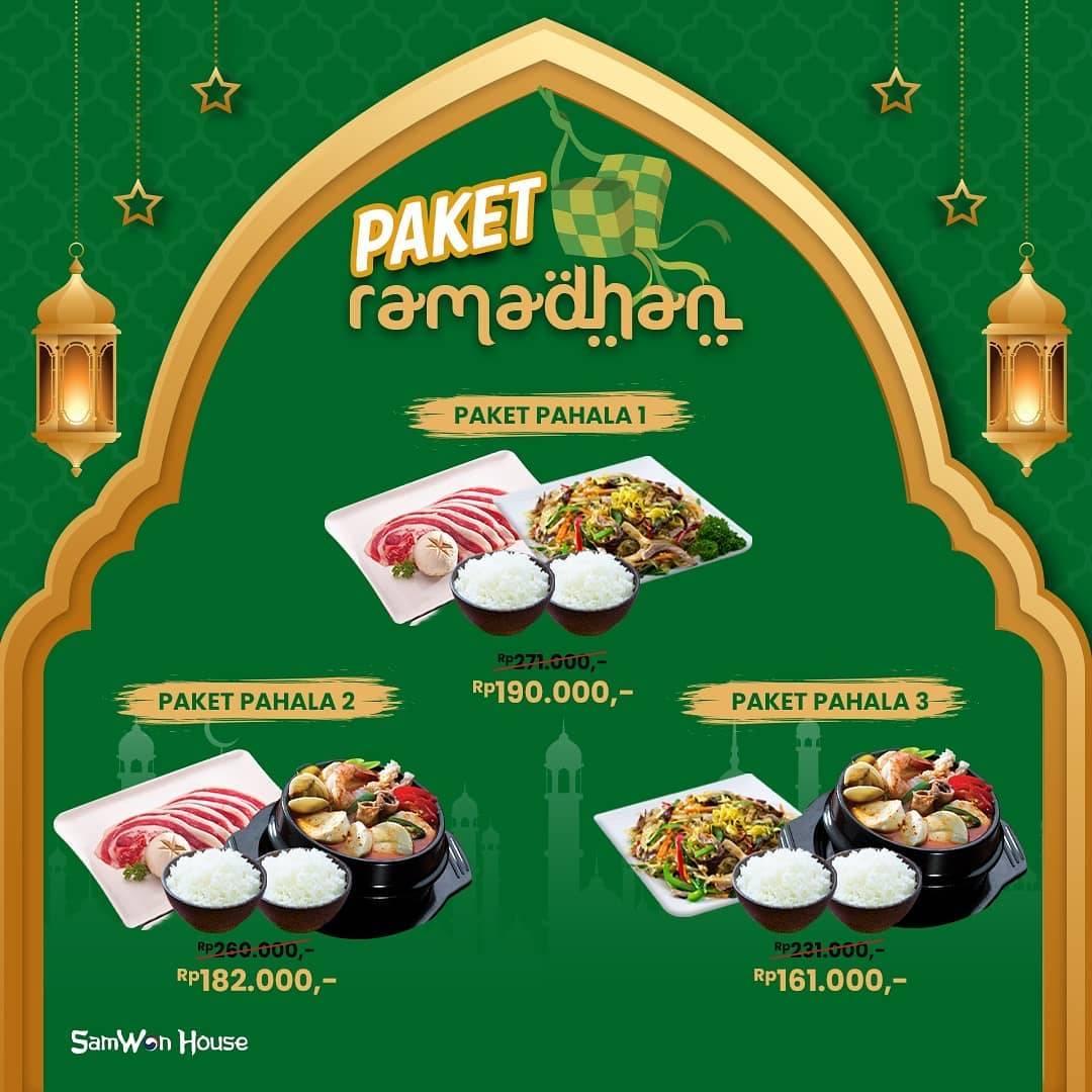 Promo diskon Samwon House Promo Paket Ramadhan Mulai Dari Rp. 46.000