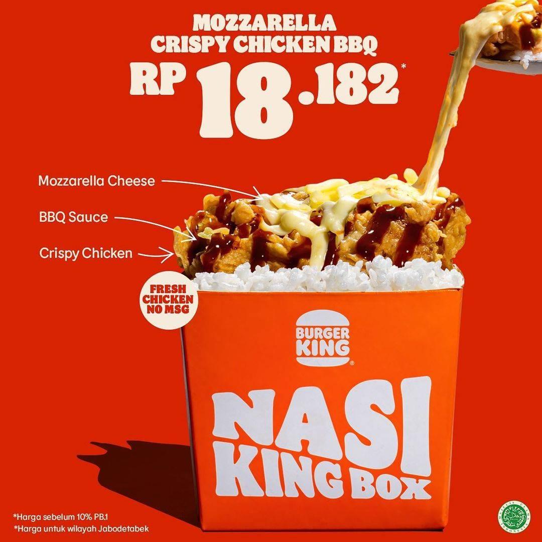 Promo diskon Burger King Promo Mozarella Crispy Chicken Jalapeno Cheese Hanya Rp. 18.812
